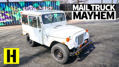 Ex-Mail Truck Built to Shred: V8 Swapped Postal Jeep Destroys Tires (and Radiators)