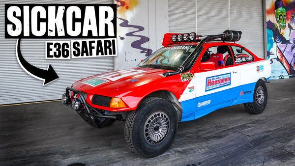 SICKCAR is Born - Then Crashed Immediately. Jump Testing Our $350 E36 Safari Project Car Part 10/10