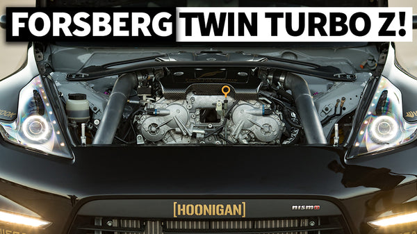 This Twin Turbo VQ, Carbon 370z Test Mule is Chris Forsberg's Party Machine… and Spare Pro Car