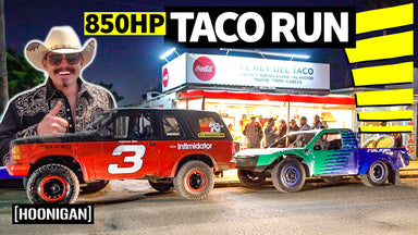 Mexico Streets in Race Trucks = The Best Taco Run EVER?