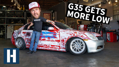 Mounting Tires With Fire! G35 Gets Fresh Wheels and More Low