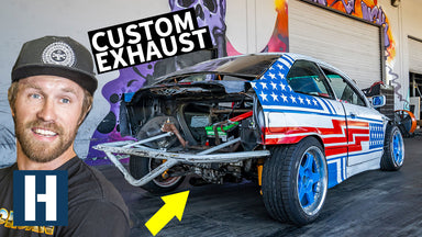 Custom Blast Pipe for our SR20 Powered Sh*tcar BMW E36