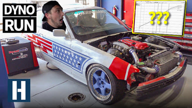 Sh#tcar Goes to the Dyno!! Then We Immediately Crash it. SR20 BMW Horsepower Numbers