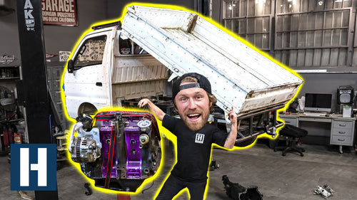 Can we Stuff a Rotary in our Ultimate Pit Vehicle?? Test Fitting a 13b in this Tiny Kei Truck