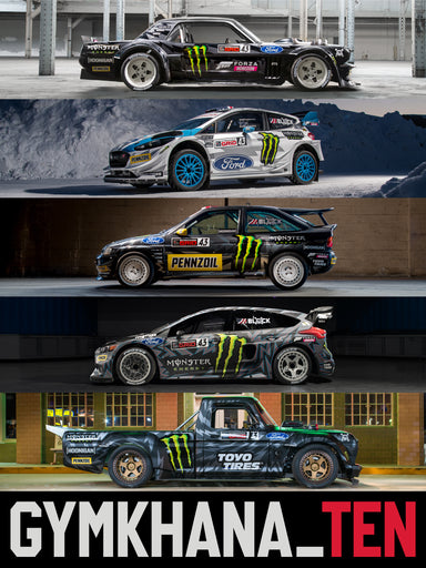 Five cars of Gymkhana TEN