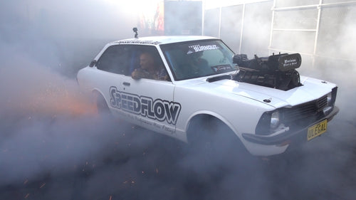 Lynchy goes WILD in our Yard, ULEGAL joins in: Aussie Burnout car Madness!