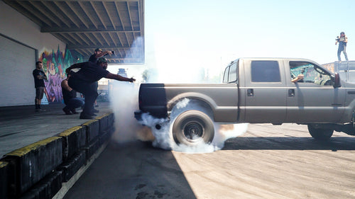 Is this 700HP Diesel Ford F-250 the BIGGEST vehicle to ever get Rowdy in our small lot?