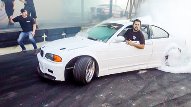 Micah Diaz DESTROYS Our Yard in his Widebody E46 Drift Car