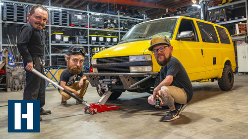 Chevy Astro Surfari Overland Project Gets a Custom Plasma Cut Front Bumper