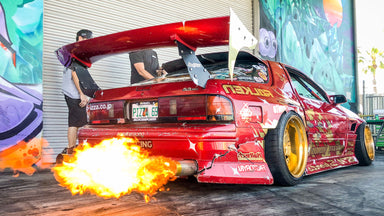 Hert Shreds His Fire Breathing Rotary Powered Mazda RX7 - The Twerkstallion!