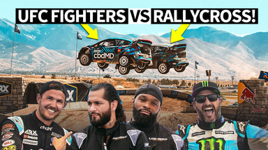 Ken Block Takes UFC Beasts Jorge Masdival and Tyron Woodley on a Wild Rallycross Ride