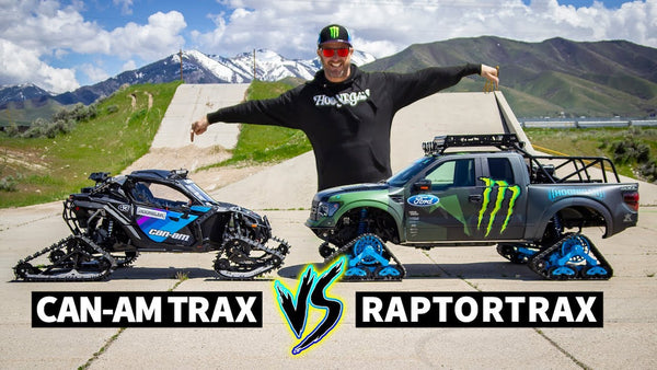 Ford Racing Apparel >> Ken Block Drag Races his Tracked Can-Am Maverick vs the Ford RaptorTRA - Hoonigan