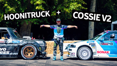 Ken Block's All-GoPro Goodwood FOS Shredding! F-150 Hoonitruck and Cossie V2 With Raw Engine Sounds
