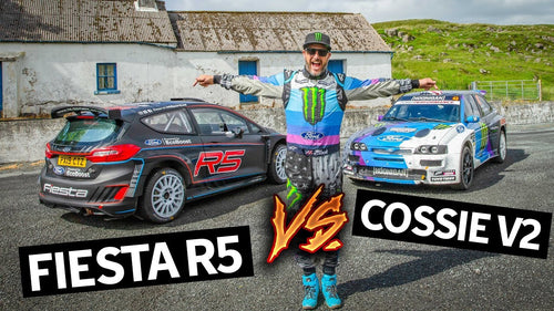 What's Faster?? Ken Block's Cossie V2 vs Brand New Ford Fiesta R5