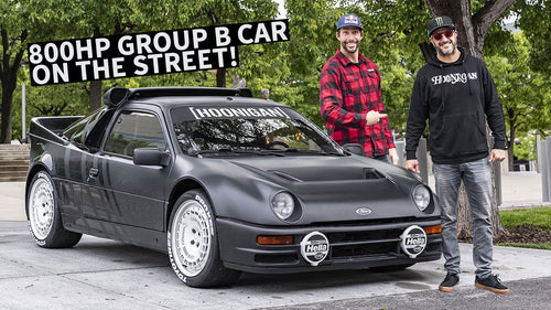 Ken Block's Ford RS200 Group B Rally Car on the Street, Meeting Up With Travis Pastrana!