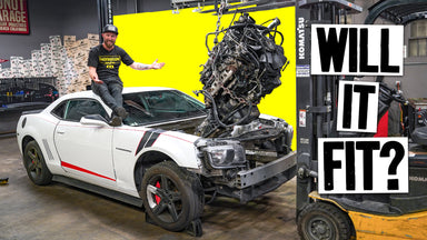 Will a 6.6l Duramax Diesel Fit Into a Chevy Camaro? // Knuckle Busters 2 Ep.2