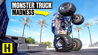 Monster Truck Destroys the Burnyard! Son-uva Digger Goes Full Savage in our Yard!