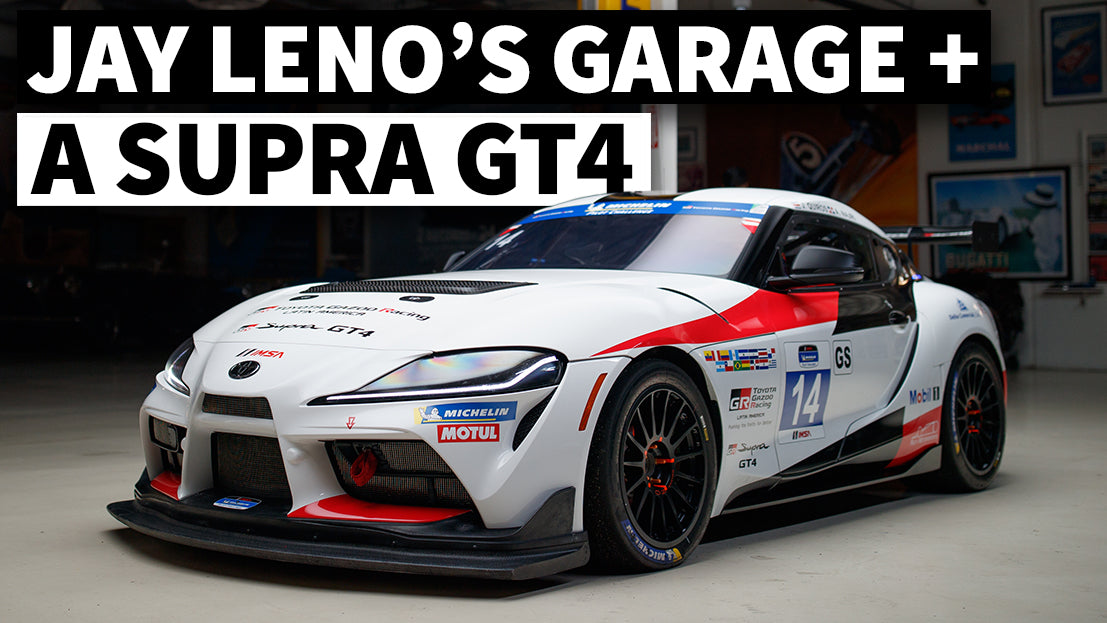 A Night in Leno's Garage With a GT4 Toyota Supra – Car Shooting Tips From Larry Chen!