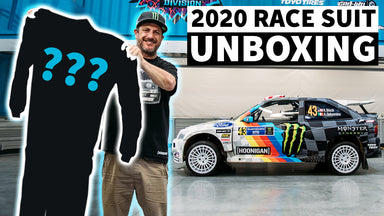 Ken Block Unboxing RARE (1 of 3) Race Suit! PLUS Race Shop Donuts in the Gymkhana Escort