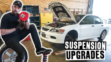 Scumbug is Back! And Ron Fixes His Evo IX's Makeshift Strut Tops