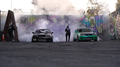 Skyline R33 VS Skyline R32 - Gary King Space Races a Canadian Foe