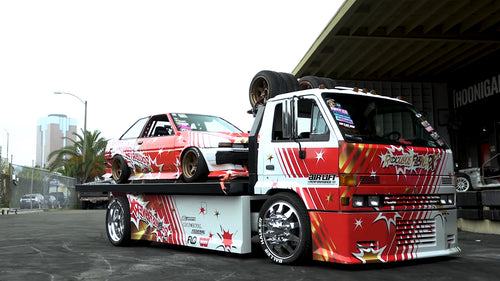 Baller Hauler + AE86 Corolla 3SGE BEAMS Powered Drift Car