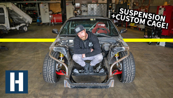 240sx Shred Car Gets a Fully Custom Cage + FRESH Suspension!