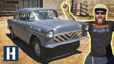 Chevy Bel Air Drag Car Gets a Plasma Cut Custom Grille! Gasser Upgrades
