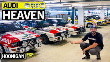 Inside Audi's Secret Storage Facility: Scotto Loses His Mind! Racecars Everywhere