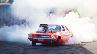 Kranky Invades the Yard! 1400hp WILD Aussie Burnout Machine smokes us out