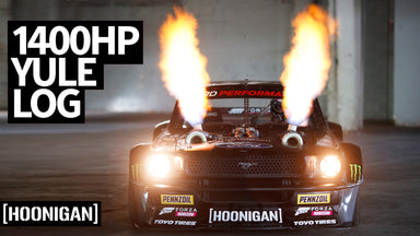 Hooni-Yule Log! Ken Block's 1,400hp Twin Turbo AWD Ford Mustang Hoonicorn Spits Fire For 2 Hours