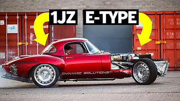 Jaguar E-Type That's 1JZ Swapped and Half-Cut: Badass or Blasphemy?