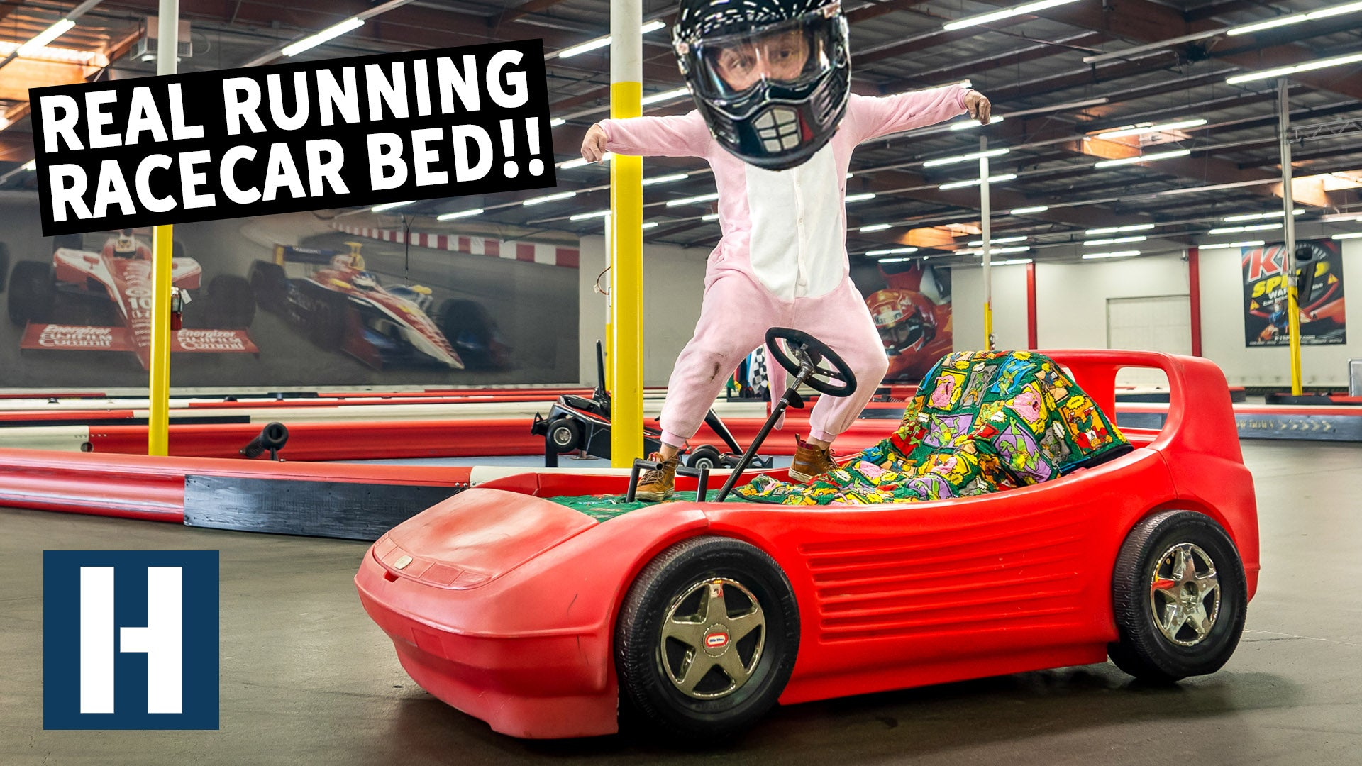 We Build A Motorized Racecar Bed And Take It To A Kart Track
