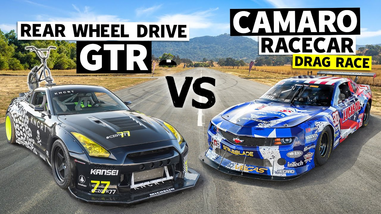 Coco Zurita's RWD R35 GT-R Roll Races Michele Abbate's Trans-Am Series Racecar // This vs. That