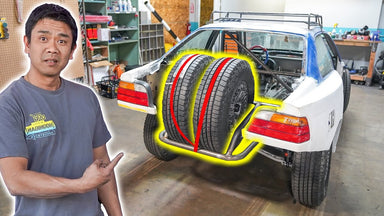 Baja-Spec Tire Mounts: Suppy Takes us to Fabrication School on Our E36 Safari Project Car