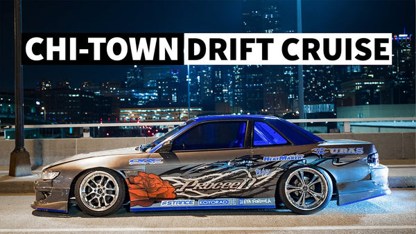 Drift Cars in the Streets of Chicago: Nighttime Photo Session With Larry Chen and Risky Devil Crew