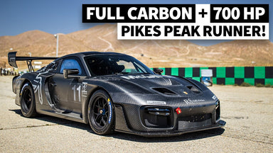 Jeff Zwart Tests the Insane 700hp Bare Carbon Porsche 935 Pikes Peak Special