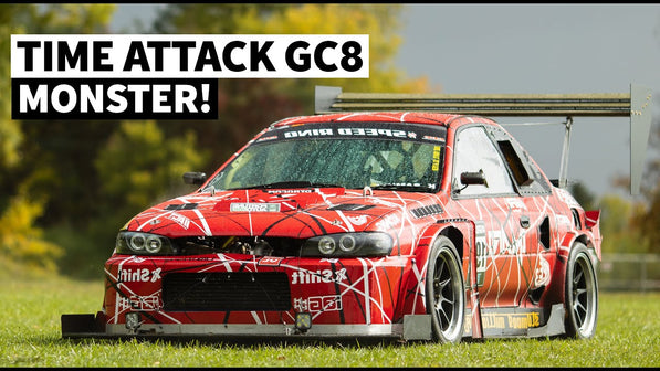 700hp 2.7l Big Bore Subaru GC8 Time Attack Car Machine
