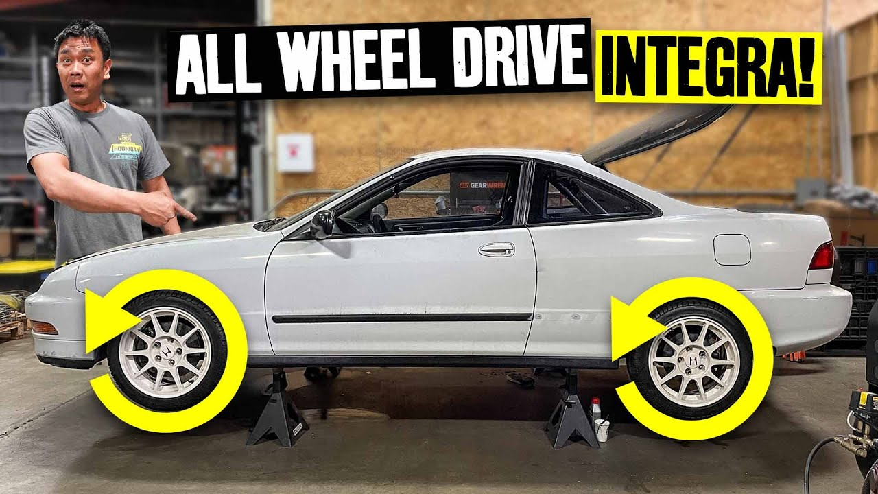 AWD Swapping an Integra Using Honda Parts: CRV 5 Speed and Hubs for Suppy's Integra!