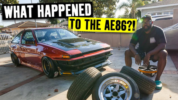 Hert's AE86 Corolla gets Wheels, Carbon and Cooling! Almost ready to be the perfect daily driver.
