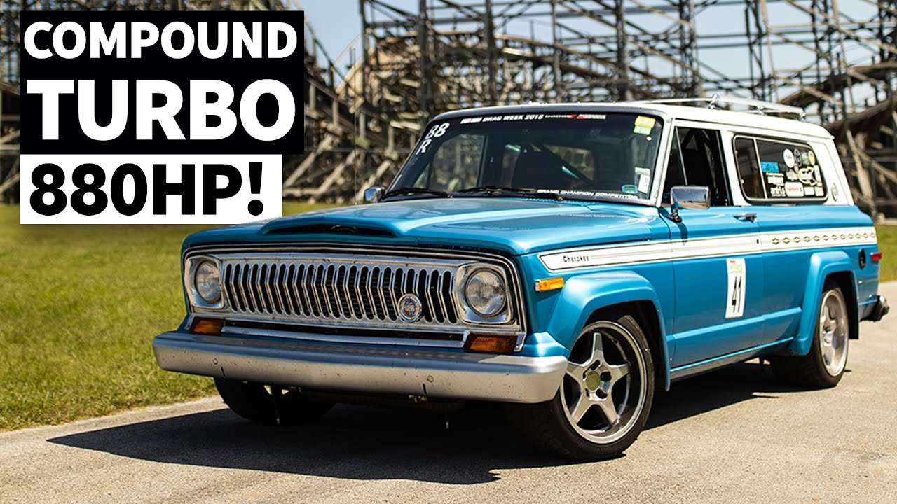 880hp 5.7l Hemi Swapped, Turbo'd, 6 Speed '75 Jeep. And it Handles!