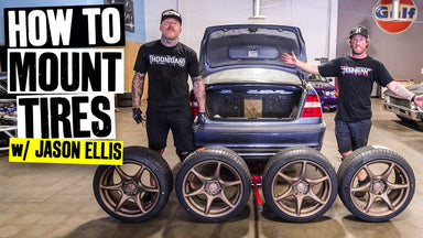 Jason Ellis' NEW Drift Car! Tire Mounting, and Tire Destroying 101 With Danger Dan and the Scumbags