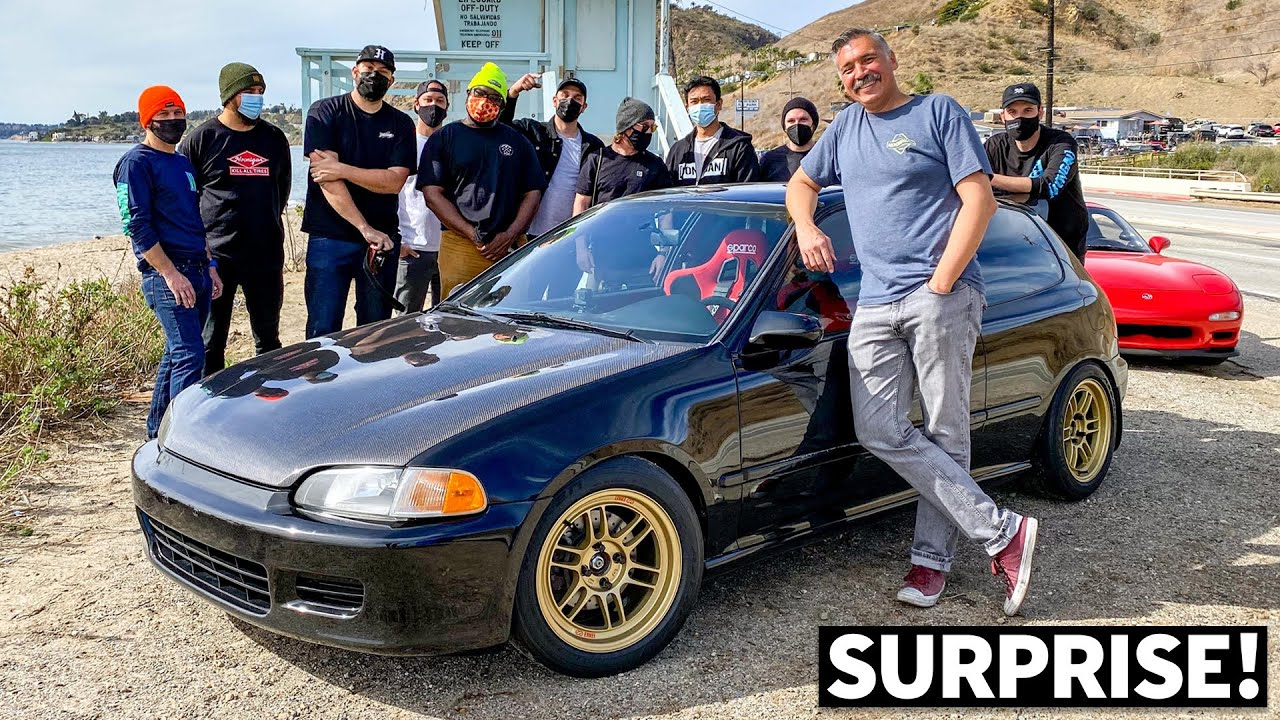 We Surprise Nads With His New Honda Civic EG Build, It Rips! (Part 2 of 2)