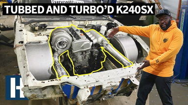 240SX Tubs, Made Out of Trailer Fenders?? Hert's Turbo Honda K24 Powered Nissan S13 Gets Clearance