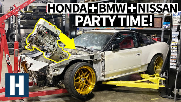 New Bulletproof Seat Time Combo? We Swap a BMW Trans Into a Honda Powered Nissan