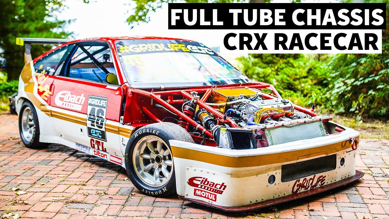 Full Tube Chassis CRX Racecar With a 30 Year Old Engine (And it Still Rips!)
