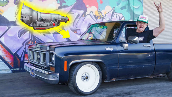 Monster Truck Team Helps Zac Install a Fresh Transmission Into His Chevy C10