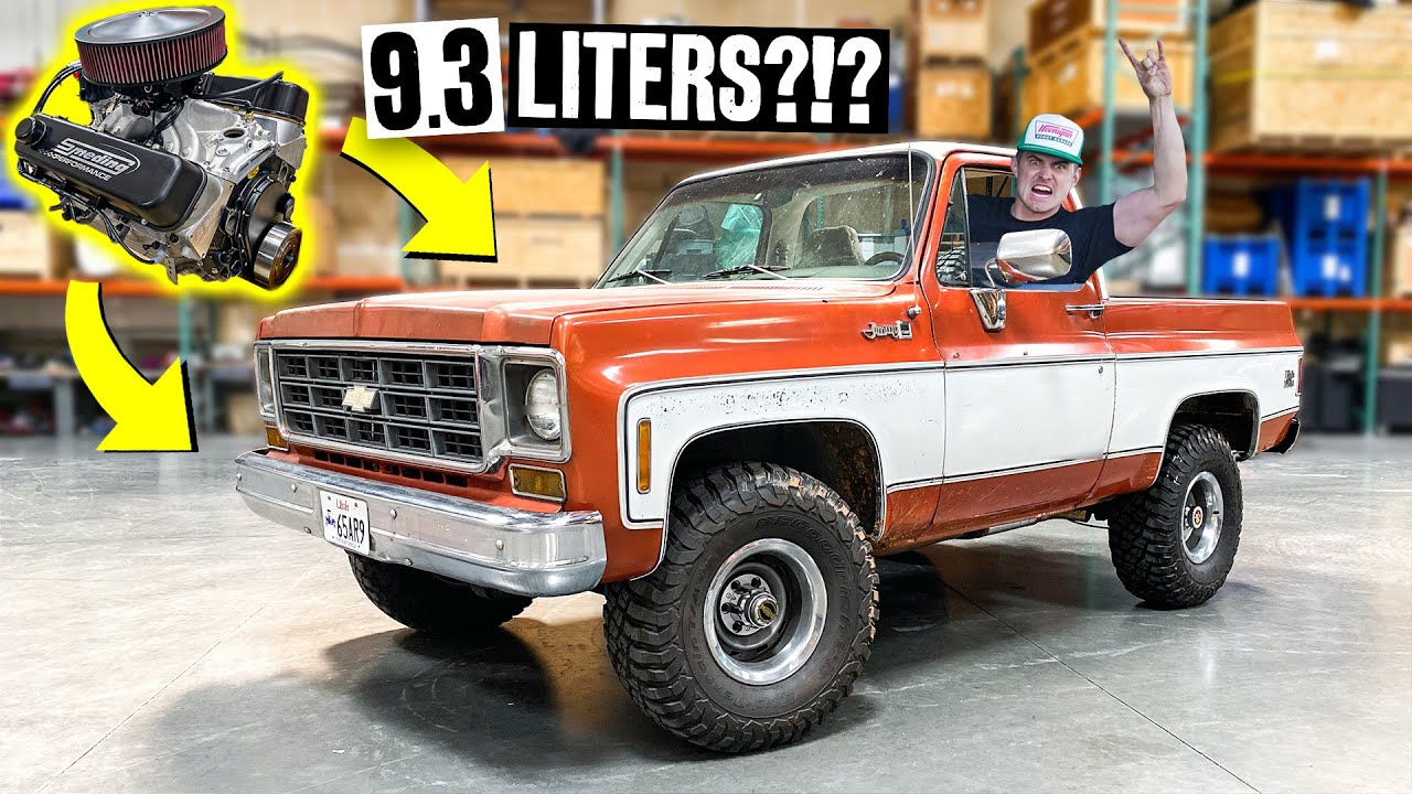 9.3 Liter V8?! Zac's Squarebody K5 Gets a HUGE Motor Swap