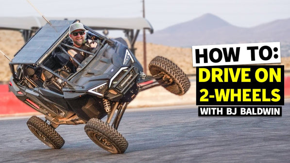 Driving on Two Wheels?? BJ Baldwin Teaches us How to Stunt in a Polaris RZR (and Bonus Loki Shreds!)
