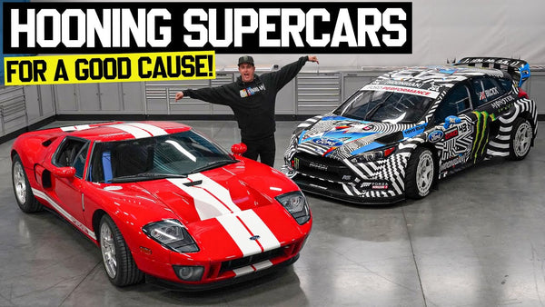 Ken Block Hoons a Ford GT?? AND Auctions Off His Gymkhana Car